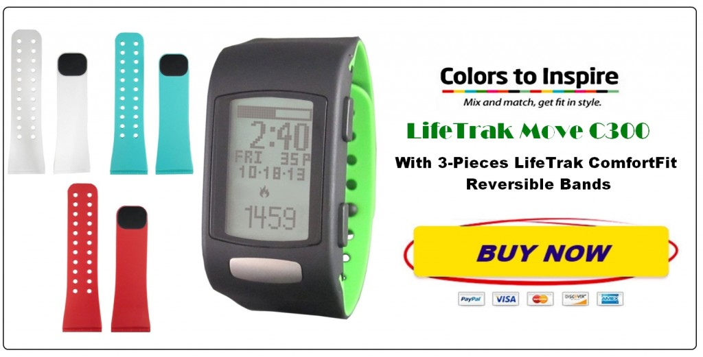 Lifetrak C300 with 3 color bands